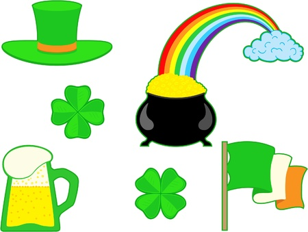 Set of the St. Patricks day elements Vector