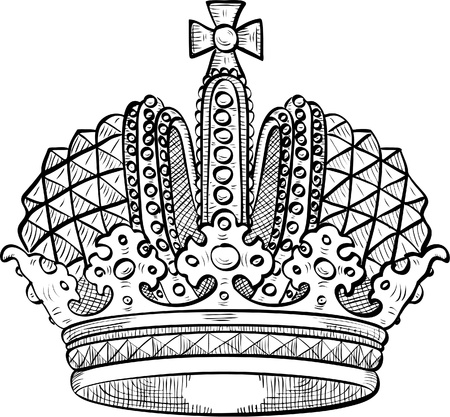 Engraved crown for your luxury design Illustration