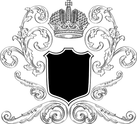 Cool royalty heraldic for the best work Illustration