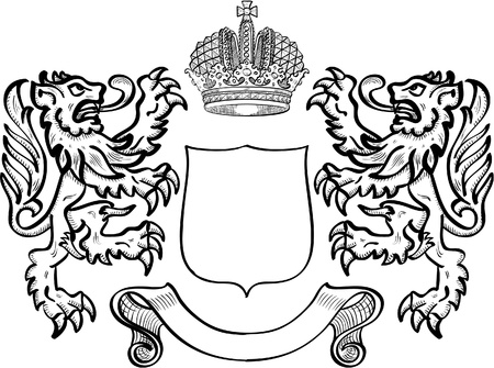 squiggle: Coat of arms with two lions