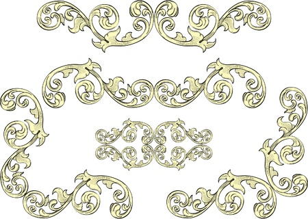 squiggle: Acanthus leaf on border for the best frames Illustration