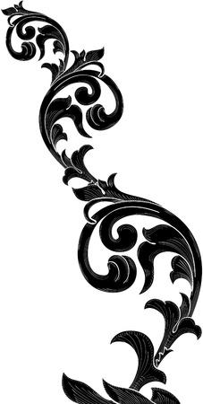 Growin Akanthusblättern für das beste Design Standard-Bild - 12481635