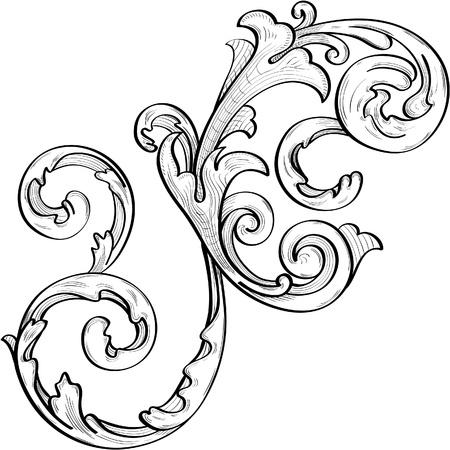 Schöne Muster von Akanthusblättern Standard-Bild - 12481627