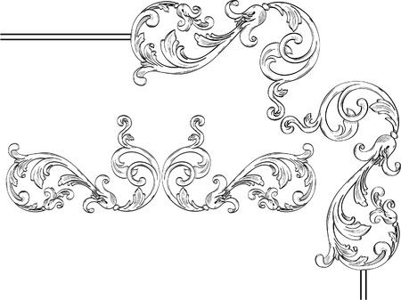 Beautiful flower like corner design elements Stock Vector - 12481761