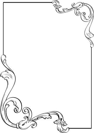 Nizza Eckelement für das beste Design Standard-Bild - 12481621