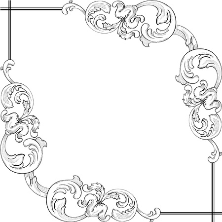 Perfect ornate corner Stock Vector - 12481637