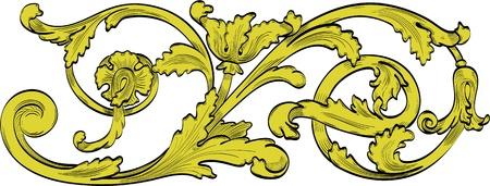 baroque: Planta de turbulencia como la imagen perfecta grabado