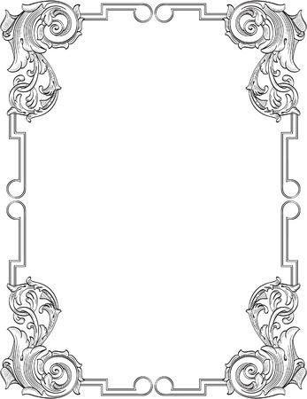 filigree swirl: Vintage frame