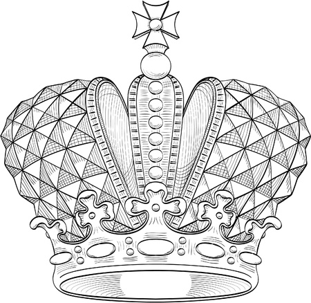 royalty: Great crown for heraldy design Illustration