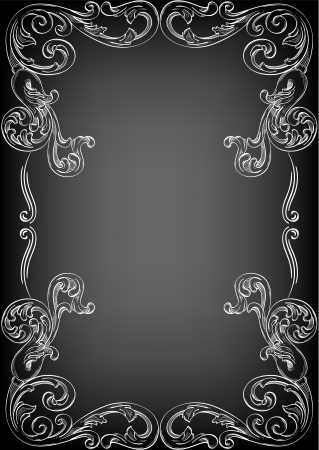 Perfect corner on black Stock Vector - 14335824
