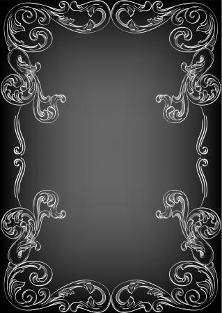Perfekte Ecke auf schwarz Standard-Bild - 14335824