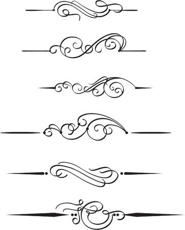Die eingestellten Buch Design-Elemente Standard-Bild - 14335735