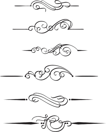 filigree swirl: The set book design elements