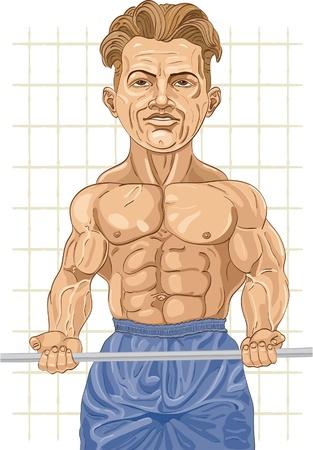 hombre fuerte: El hombre fuerte con un peso