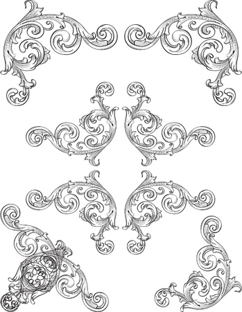 Ornate frame elements for nice page Vector