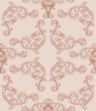 Seamless baroque wallpaper for wraping paper Stock Vector - 14335854