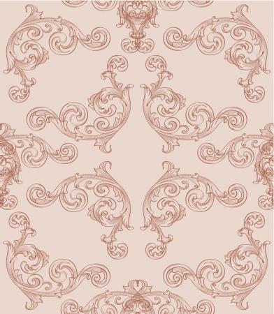 interweaving: Seamless baroque wallpaper for wraping paper