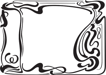 Nice border in art art nouveau style Vector