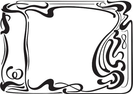 Nice border in art art nouveau style Stock Vector - 14335729