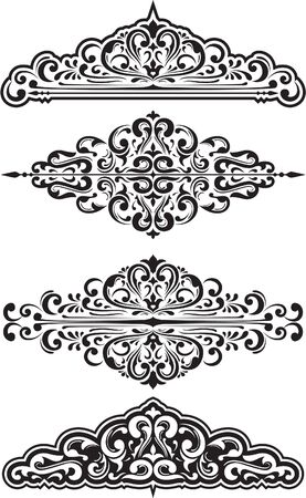 Dividers and scroll set isolated on white Stock Vector - 14335755