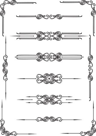Dividers elements set on white Vector
