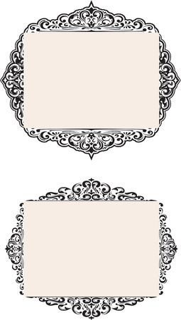 The two nice frames on white Vector