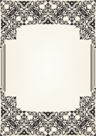 Ornate border isolated on white Vector