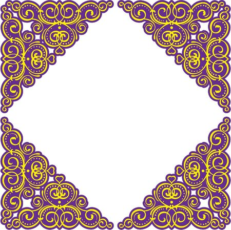 Ornate frame isolated on white Vector