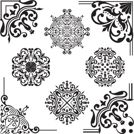 Set of elements for design on white Vector