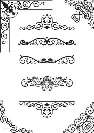 Swirl Ecke und Kluft auf weiß gesetzt Standard-Bild - 14335767