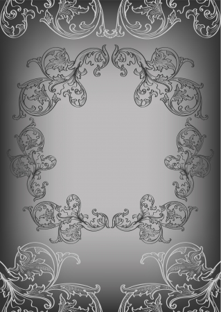 acanthus: The black frame and corner elements Illustration