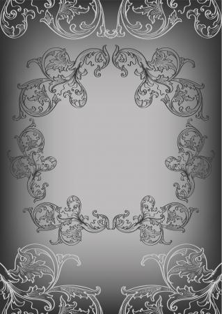 The black frame and corner elements Ilustracja