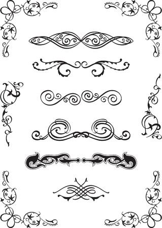Divide elements set on white Vector