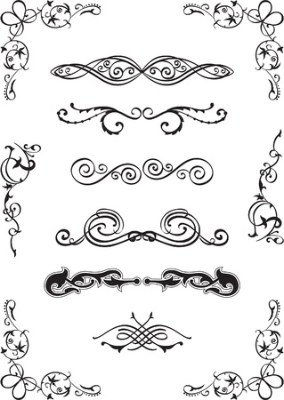 Divide elements set on white Stock Vector - 14335769