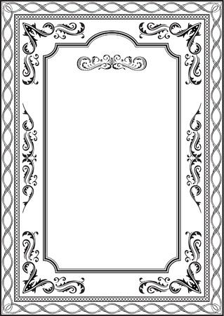 Exellent Vintage-Rahmen auf weiß Standard-Bild - 14335811