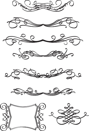 Perfect swirls isolated on white Vector