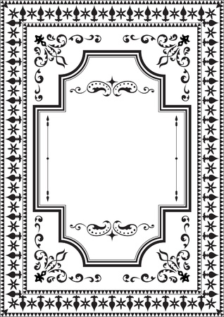Gothic frame from me Vector