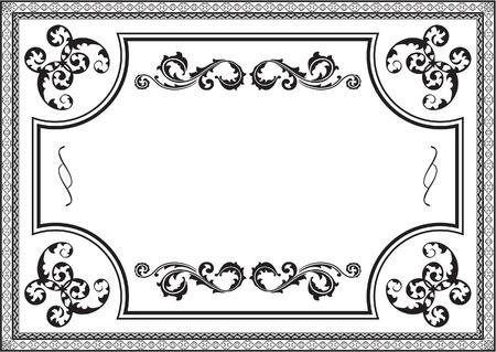 interweaving: Bella cornice Horisont su bianco Vettoriali