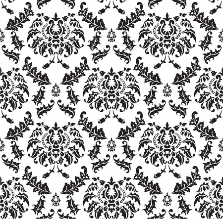 Seamless pattern of Damask design Vector