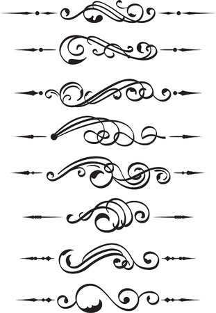 The set of divide book pieces on white Stock Vector - 14335742