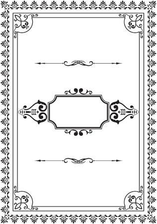 Nice old frame on white