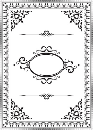 Ornate background on white Illustration
