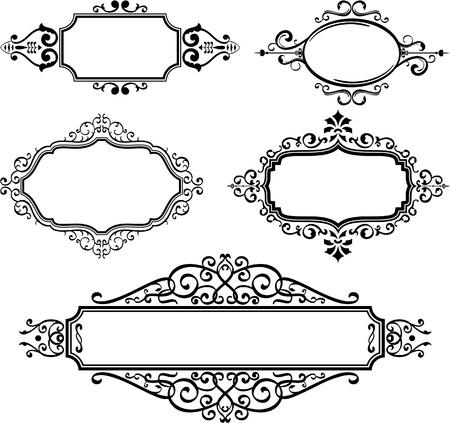 Aufwändige Grenzen auf weiß Standard-Bild - 14335768