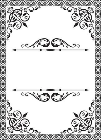 Classic frame on white Vector