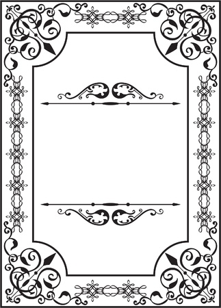 victorian border: Perfect card in classic style