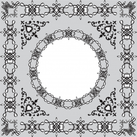 Victorian frame illustration Vector
