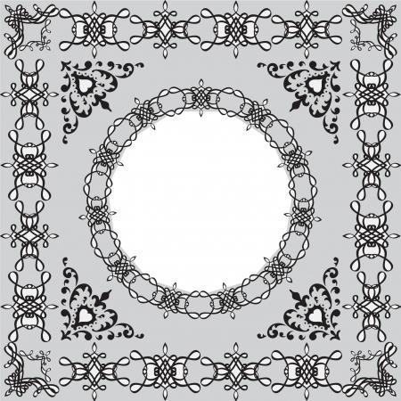 Victorian frame illustration Vector