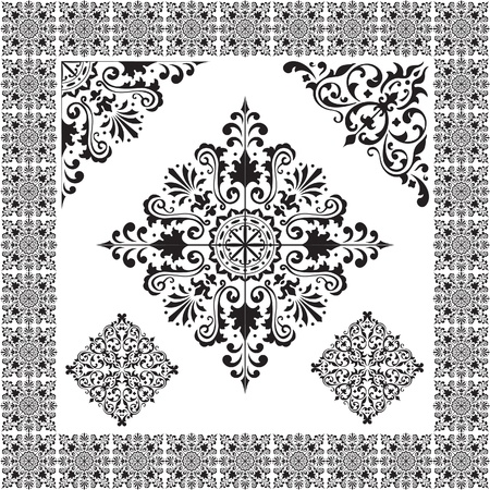 arabic style: The picture isolated on white