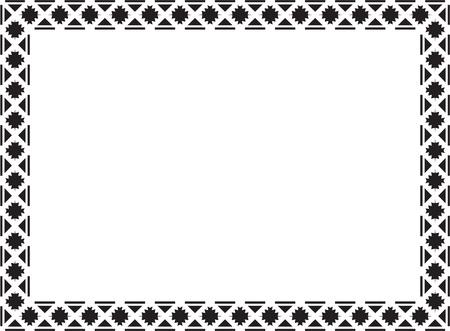 Elegance frame on white Vector
