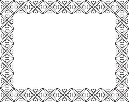 mirrored: Elegance vintage border on white Illustration